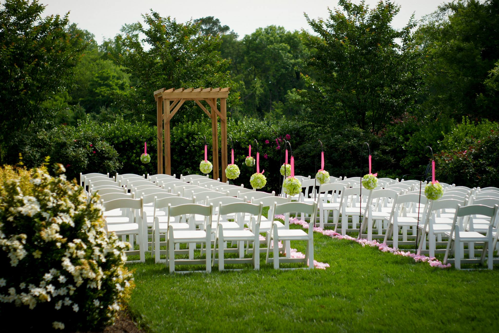 Raleigh NC Outdoor Wedding Venue  RandBryan House