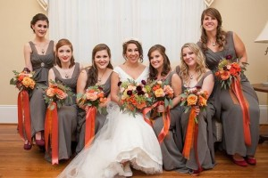 Beautiful bridal party at The Rand-Bryan House
